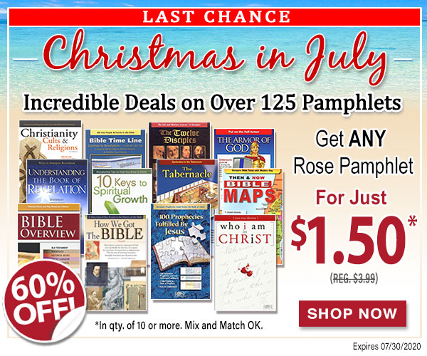 Christmas in July Pamphlet Sale